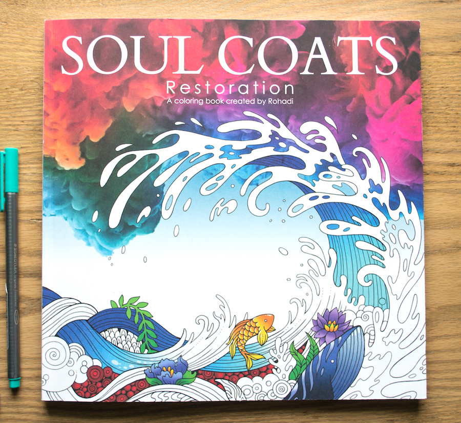 soul coats resotration adult coloring book