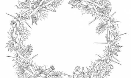 Love and the Crown of Thorns Coloring Page (Free)