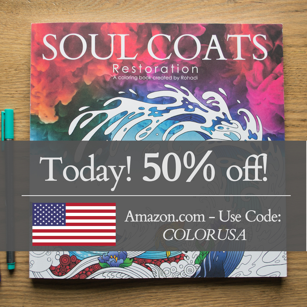 Fourth of July 50% Coupon - Adult Coloring Book Discount | Soul ...